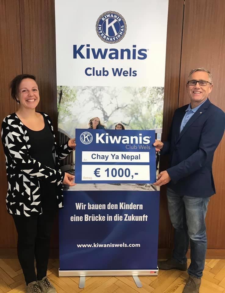 KIWANIS CLUB WELS unterstützt Kinderhilfsprojekt