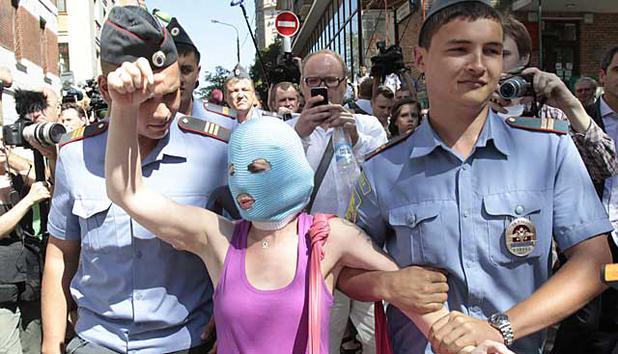 Pussy-Riot-Aktivist zu 15 Tagen Arrest verurteilt