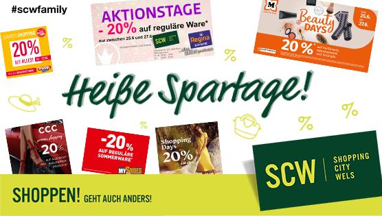 Heiße Spartage in der SCW Shoppingcity Wels