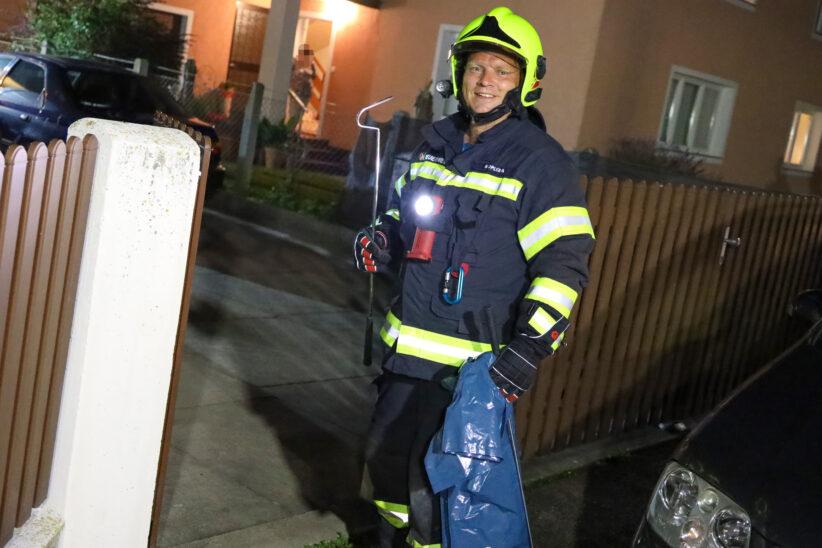 """Geschicklichkeitsspiel """"Snake"""" im echten Leben für Einsatzkräfte der Feuerwehr in Marchtrenk"""