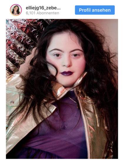 Ellie, 18 Jahre alt, Downsyndrom – und Gucci-Model!