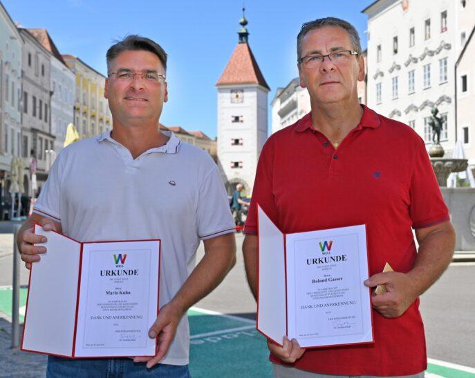 Urkunde der Stadt Wels