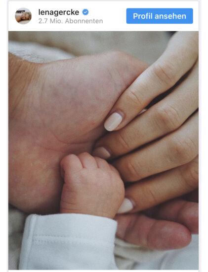 """""""Drei sind eine Familie!"""" - Lena Gerckes Baby ist da"""
