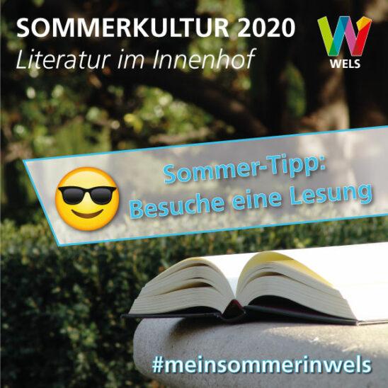 Zur Welser Sommerkultur gehört auch die Literatur 📖👓😊