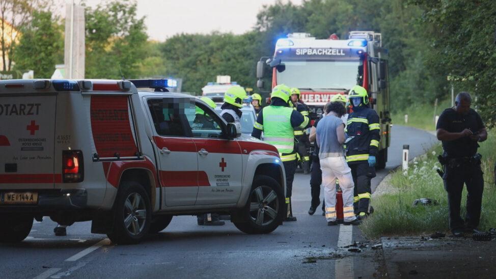 Tödlicher Verkehrsunfall: Motorrad bei Sipbachzell frontal gegen Unterführung gekracht
