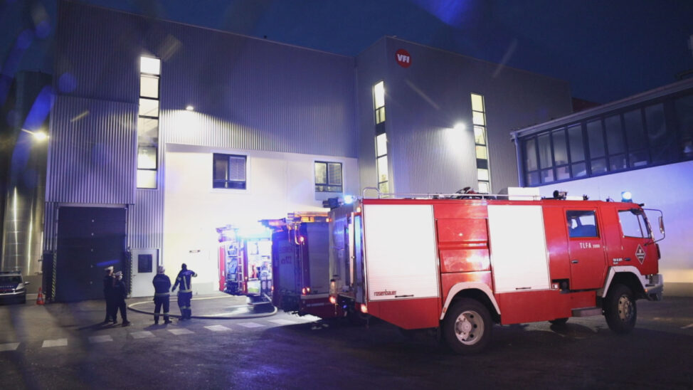 Brand bei einem Fettwarenproduktionsbetrieb in Wels-Vogelweide