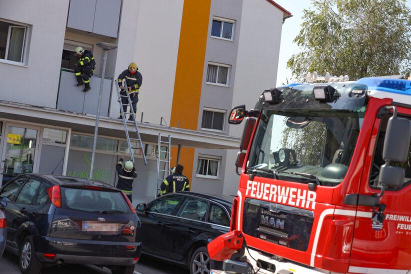 Angebranntes Kochgut: Feuerwehr in einer Wohnung in Wels-Vogelweide im Einsatz