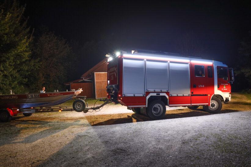 Einsatzkräfte bei Suchaktion nach vermisster Person in Edt bei Lambach im Einsatz