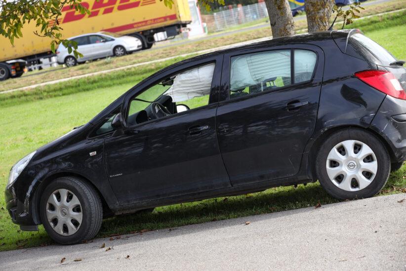 Einsatzkräfte zu schwerem Verkehrsunfall auf Wiener Straße bei Marchtrenk alarmiert