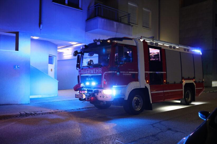 Brand in einer Wohnung in Wels-Innenstadt bereits vor Eintreffen der Feuerwehr von selbst erloschen