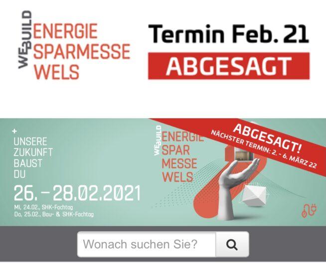 Energiesparmesse 2021 abgesagt