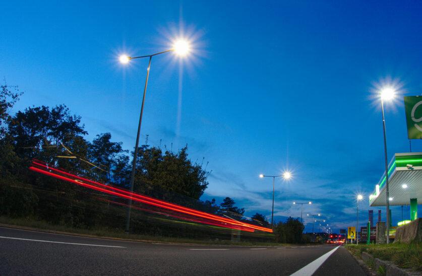 Straßenbeleuchtung in Wels