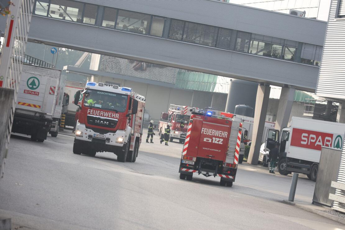 Brand im Bereich einer Trocknung bei Unternehmenszentrale in Marchtrenk