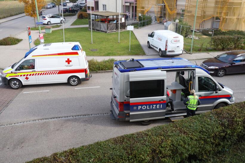Person in Wels-Vogelweide von Kleintransporter niedergestoßen