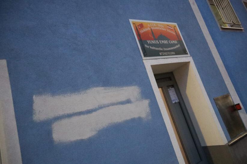 Moschee in Wels-Lichtenegg mit beleidigender Parole beschmiert