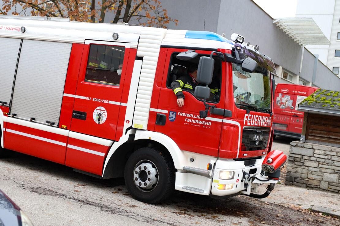 Angebranntes Kochgut in einer Wohnung in Wels-Lichtenegg sorgt für Einsatz der Feuerwehr
