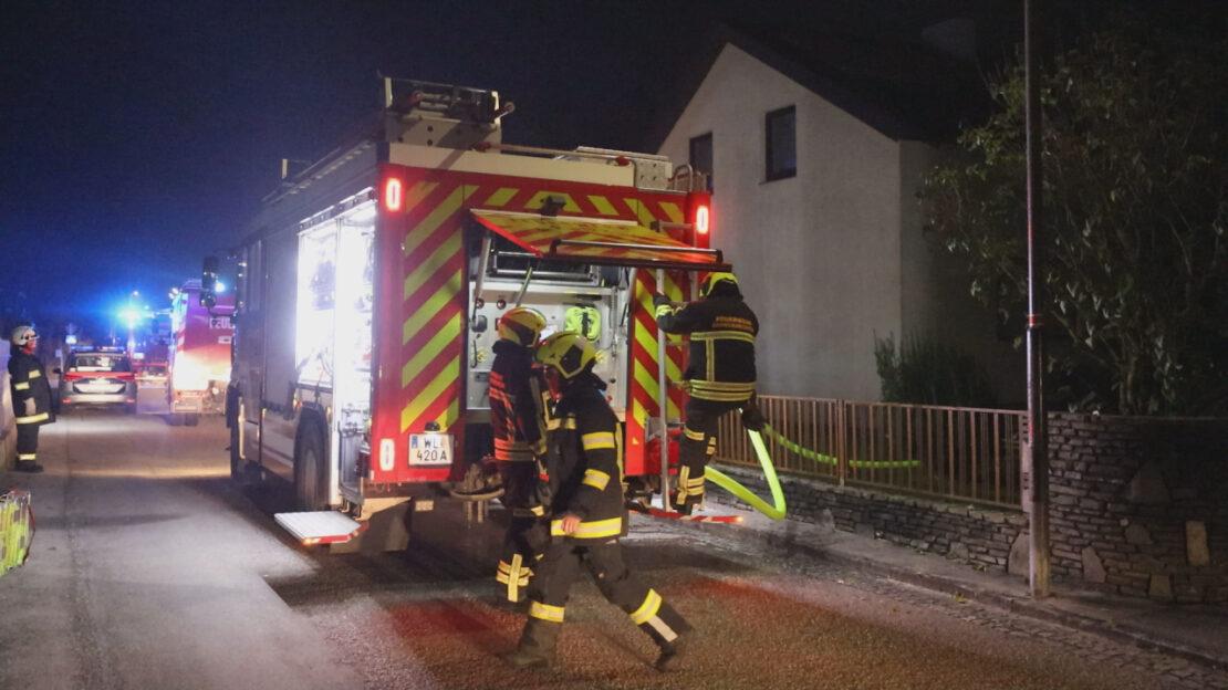 Schuppenbrand bei einem Einfamilienhaus in Gunskirchen