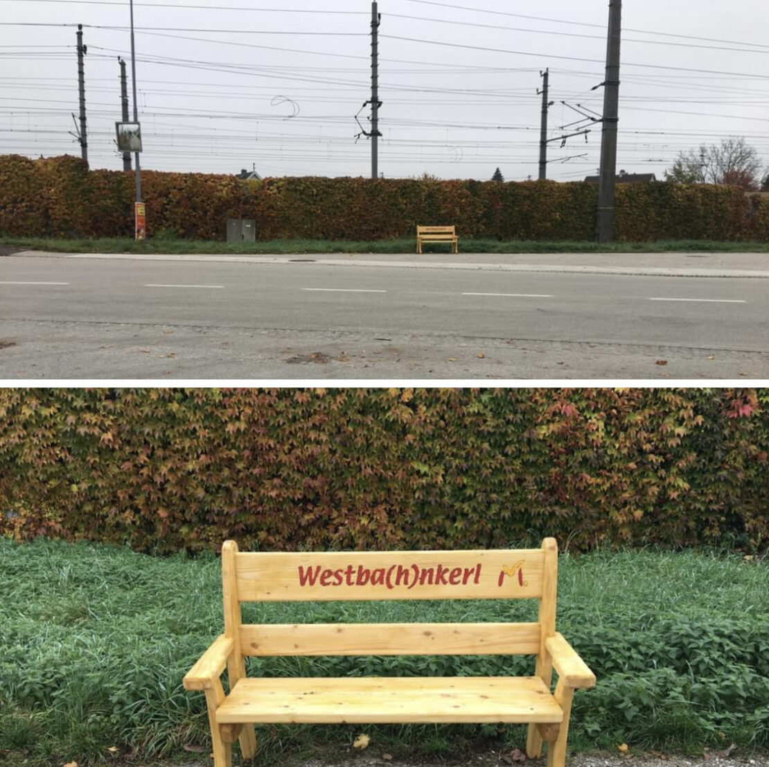 Neues Bankerl in Marchtrenk