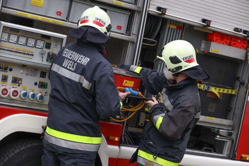 Kirschkernkissen vergessen: Feuerwehr bei verrauchtem Wohnhaus in Wels-Waidhausen im Einsatz
