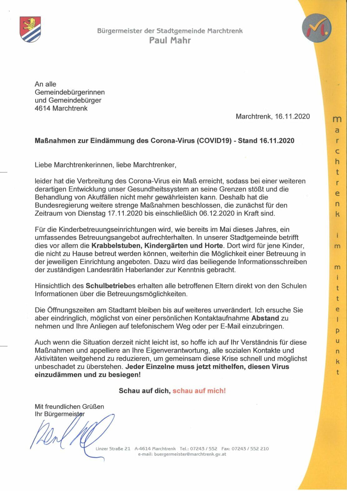 Paul Mahr äußert sich zu Corona