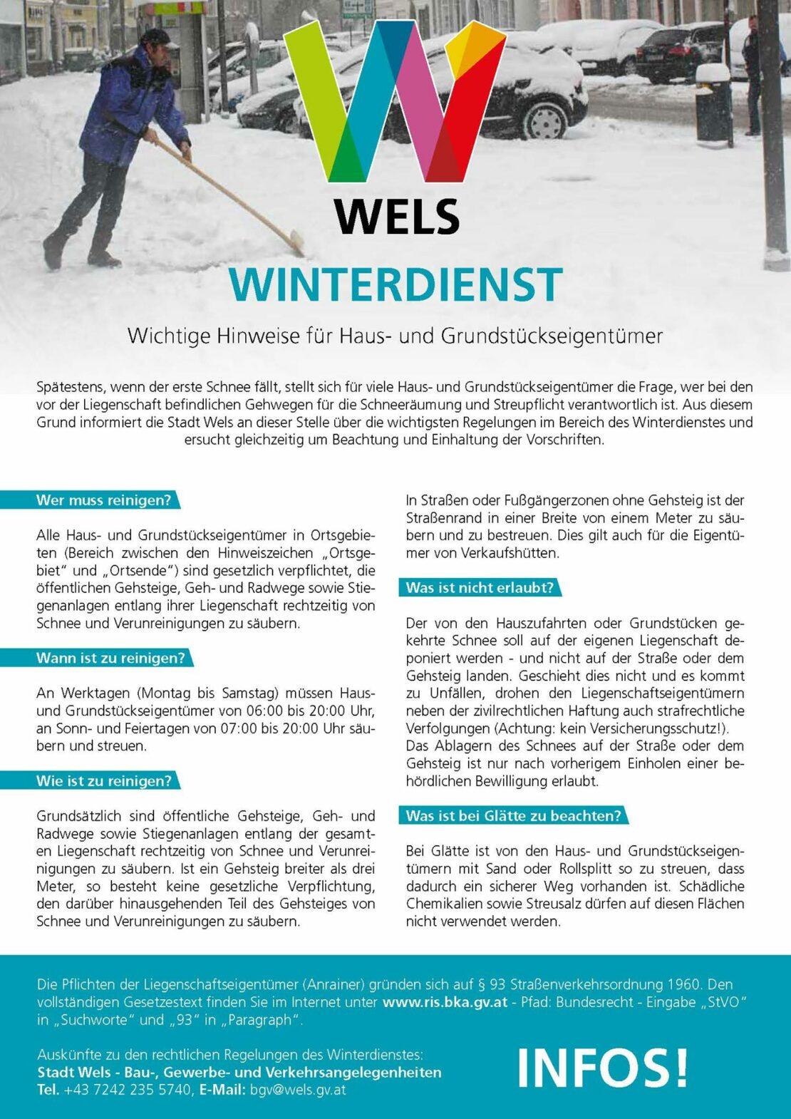 Winterdienste in Wels