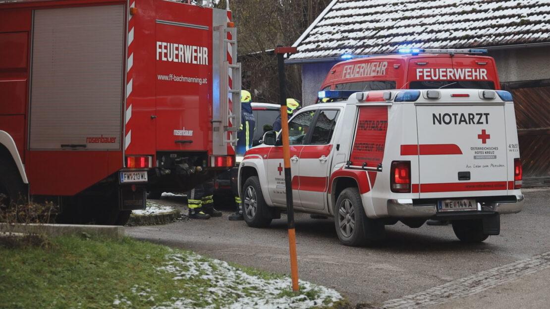 Altbauer bei landwirtschaftlichem Unfall auf Bauernhof in Bachmanning tödlich verletzt