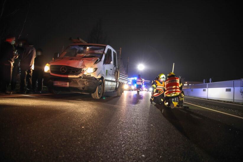 Auffahrunfall auf Wiener Straße in Marchtrenk endet glimpflich