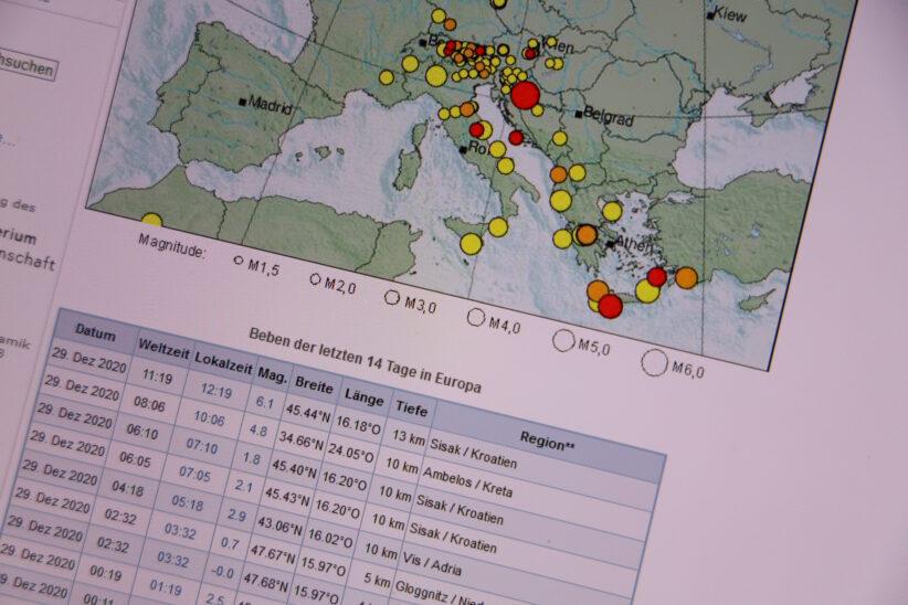 Ausläufer eines Erdbebens der Stärke von 6,1 in Kroatien auch in Oberösterreich zu spüren
