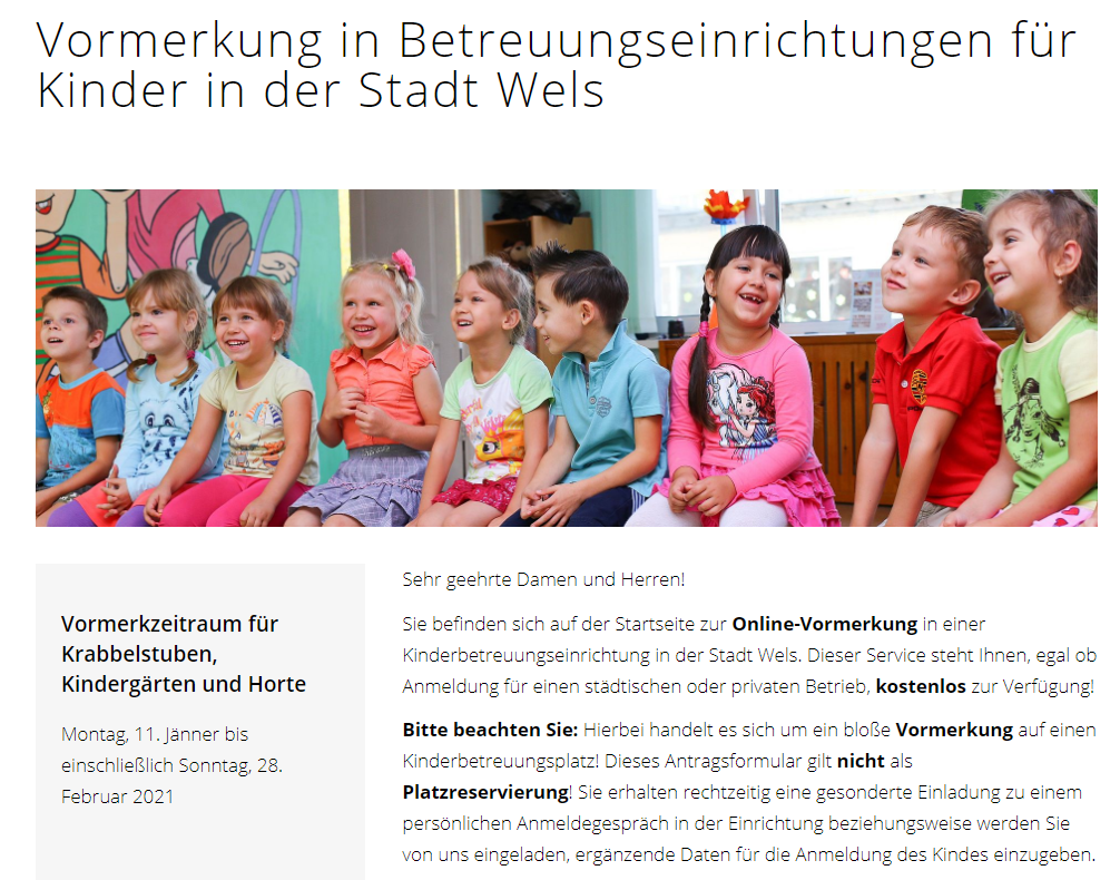 Kinderbetreuung in Wels