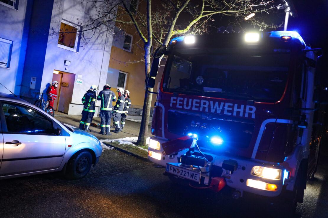 Einsatz durch stechenden Geruch in einem Mehrparteienwohnhaus in Wels-Neustadt