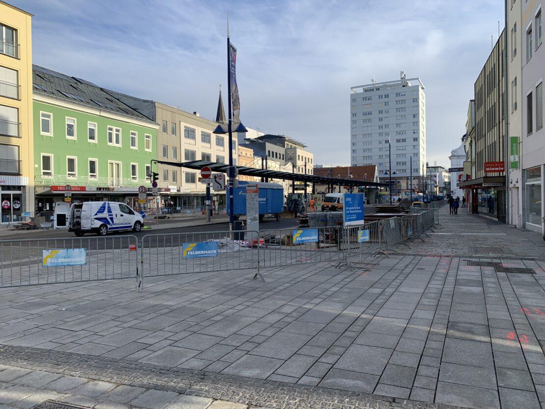 Start Umbau Kaiser-Josef Platz