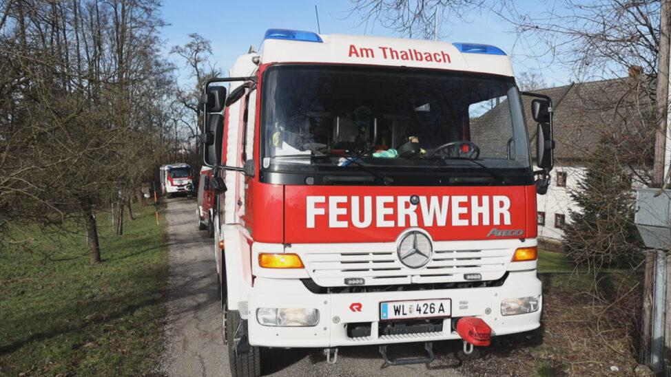 Brand im Zählerkasten eines Gebäudes in Thalheim bei Wels