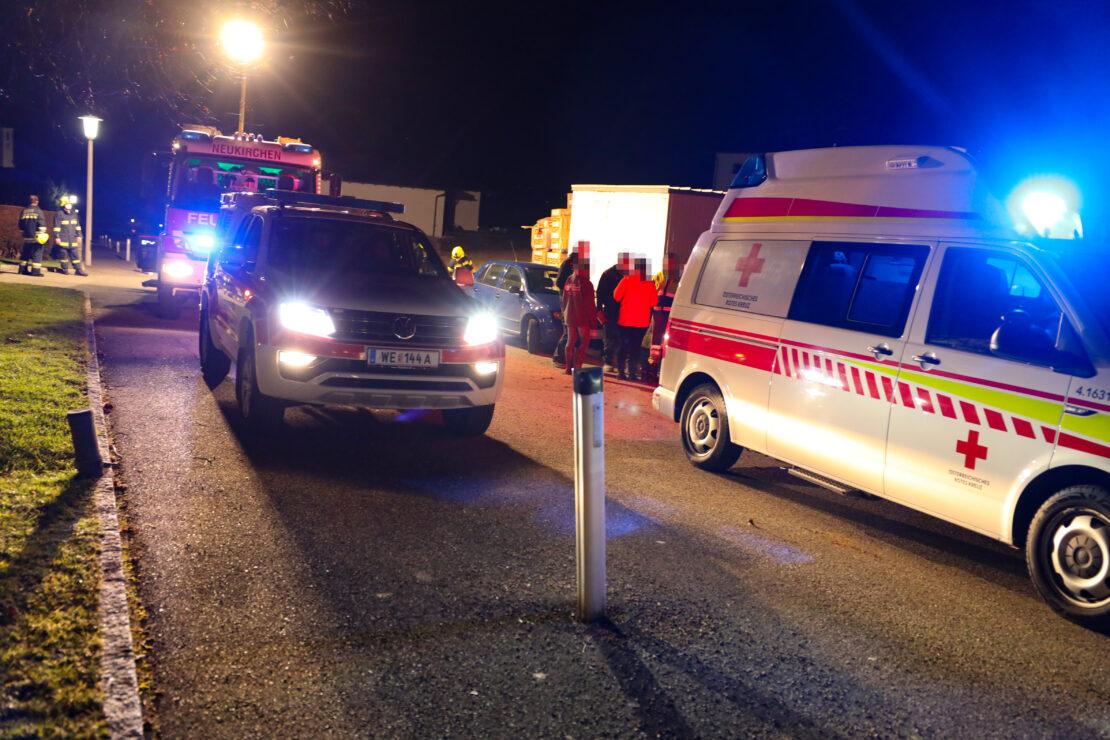 Personenrettung auf einer Baustelle in Neukirchen bei Lambach