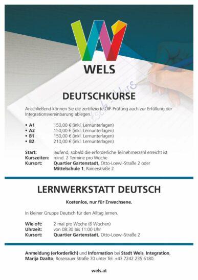 Deutschkurse in Wels