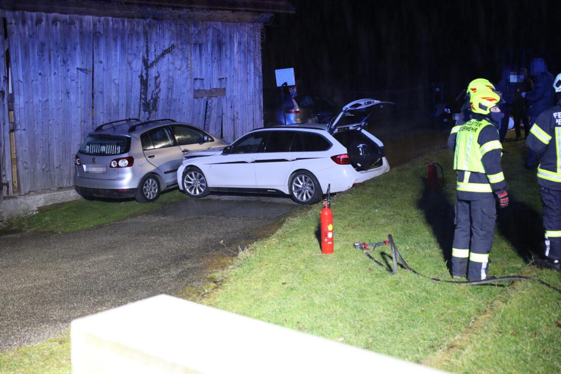 Nächtlicher Verkehrsunfall in Pennewang endet glimpflich