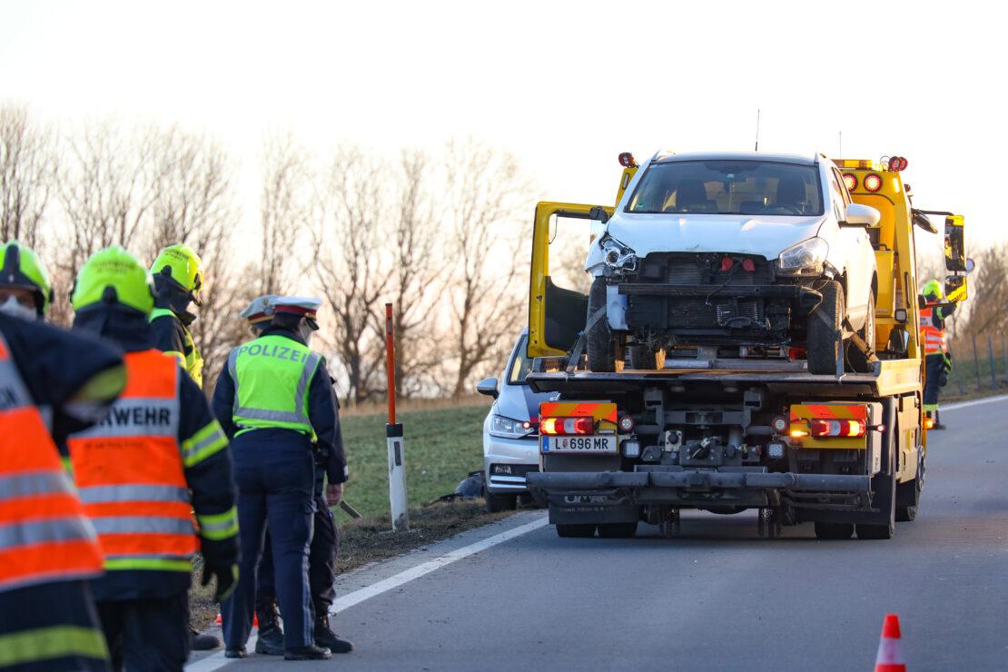 Zweimal gegen Wildzaun: Verkehrsunfall auf der Pyhrnpass Straße in Thalheim bei Wels