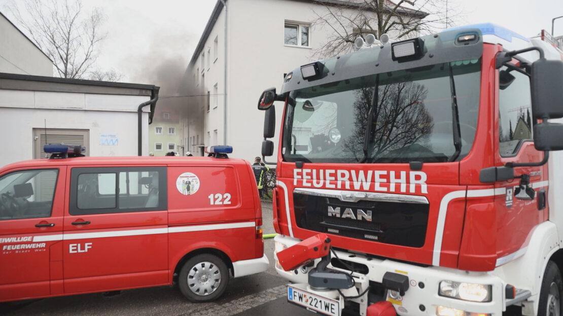 Brand in einer Wohnung in Wels-Vogelweide