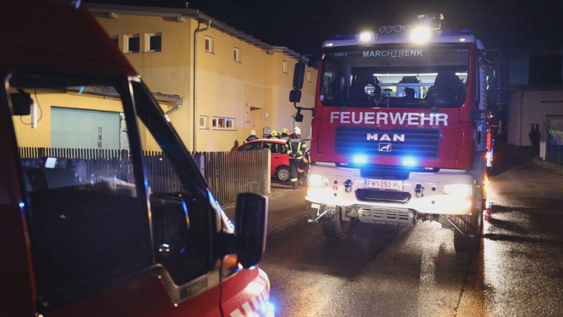 Starke Rauchentwicklung bei Kleinbrand in einem Wohnhaus in Marchtrenk