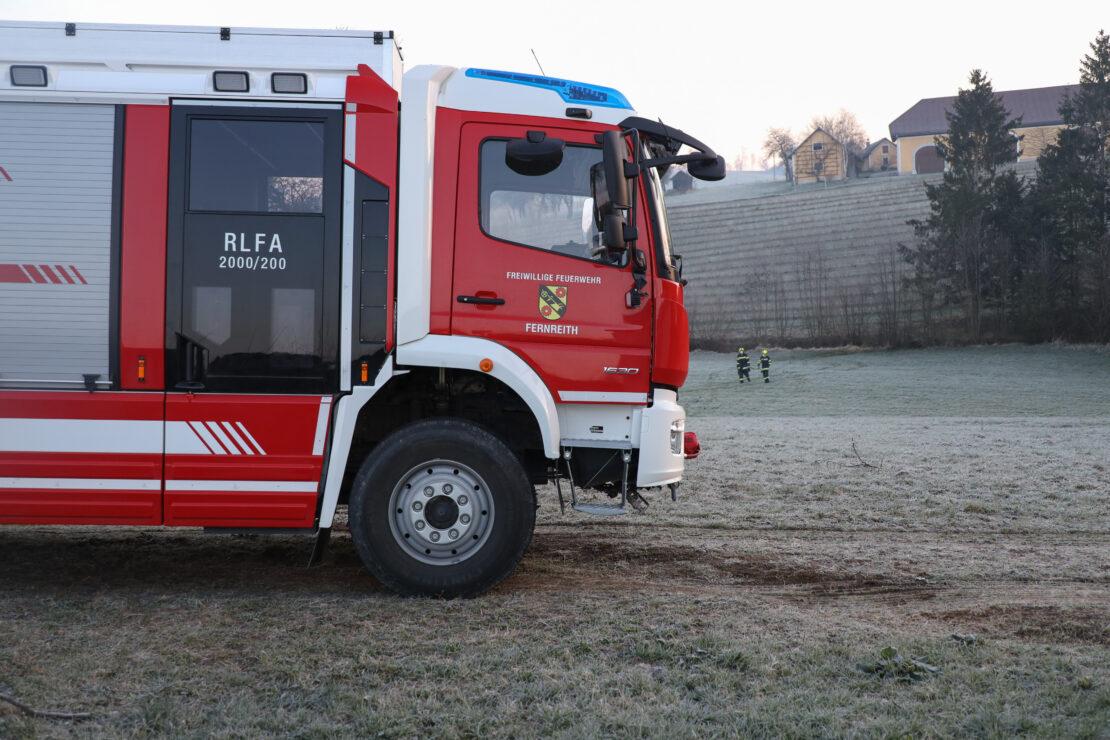 Kurioser Verkehrsunfall in Gunskirchen mit glücklicherweise glimpflichem Ausgang