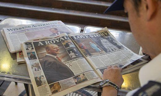 Salutschüsse und Schweigeminuten für Prinz Philip