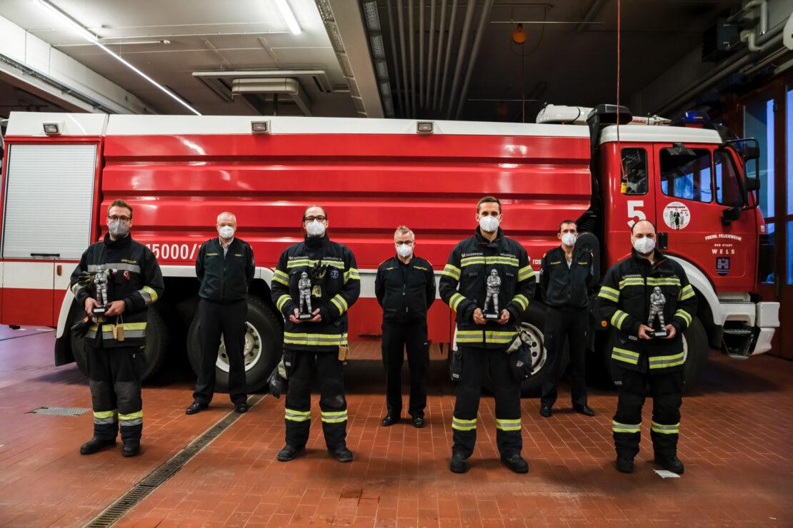 Welser Feuerwehrmänner des Jahres ausgezeichnet
