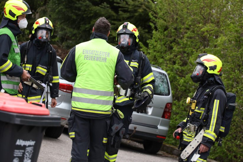 Einsatz nach gemeldetem Gasgeruch in einem Haus in Schleißheim