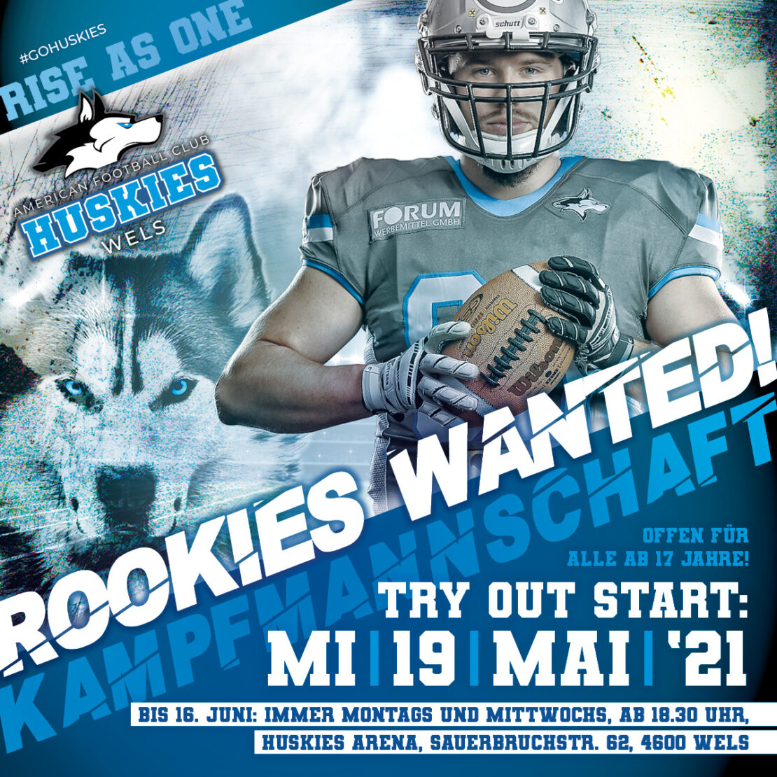 TRY OUT - Rookies Wanted