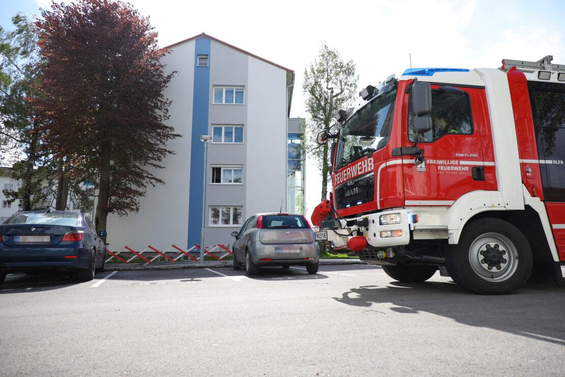 Einsatz der Feuerwehr durch angebranntes Kochgut in Wels-Vogelweide