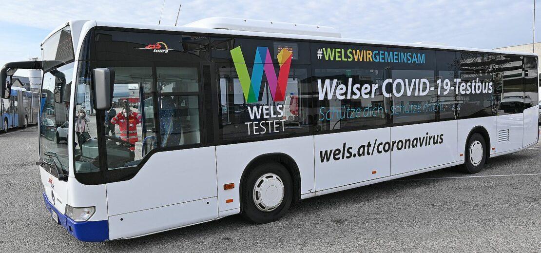 Zweiter Corona-Testbus für Wels