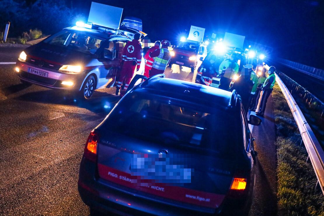 Fünf Verletzte: Geisterfahrerin verursacht schweren Unfall auf Innkreisautobahn bei Krenglbach