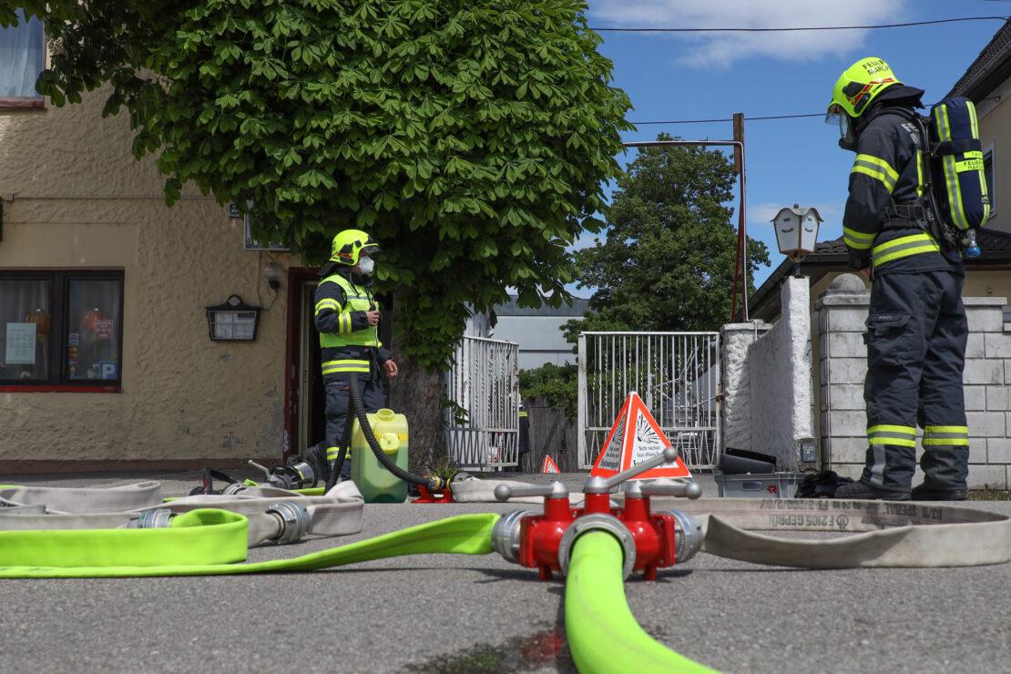 Explosionsgefahr nach Flüssiggasaustritt bei Chinarestaurant in Marchtrenk