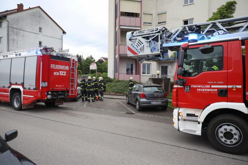 Brand von Unrat in einer Wohnung in Wels-Vogelweide
