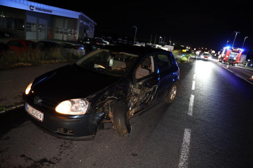 Nächtlicher Unfall auf Wiener Straße emdet mit vorläufiger Führerscheinabnahme