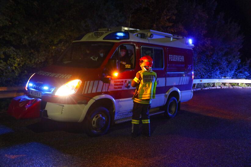 Nächtliche Suchaktion samt Such- und Rettungshunden nach abgängiger Frau in Thalheim bei Wels